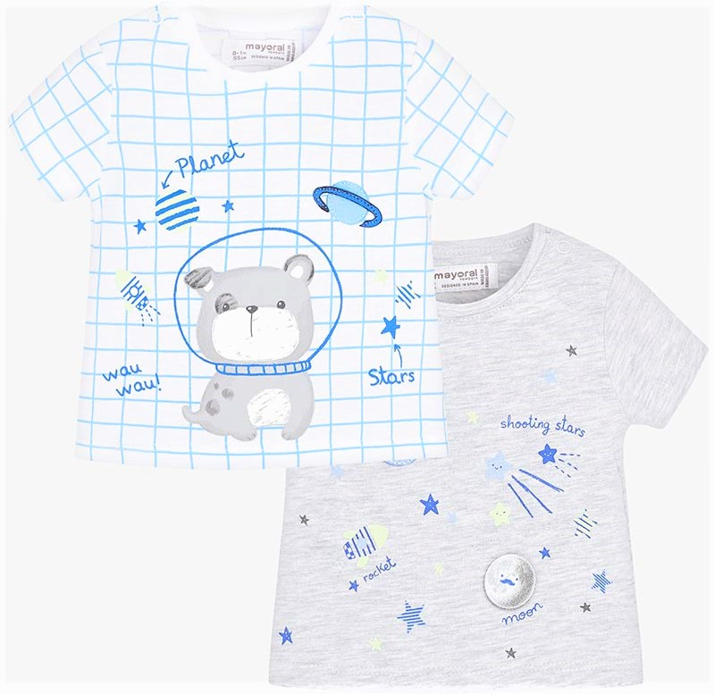 Set 2 t-shirt MAYORAL 4mesi/18mesi