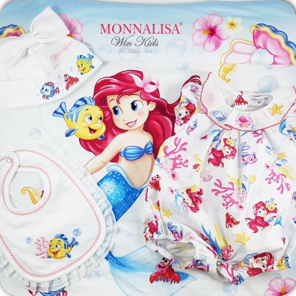 Ora disponibile online si Win Kids la nuova collezione MONNALISA primavera  estate 2019 con personaggio Disney la SIRENETTA. Una collezione ricca di  colori e ... ee1258443f1